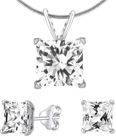 8171d9580 Silvego Ezüst ékszer készlet JJJSQ55 átlátszó kristály ékszer ezüst 925/1000