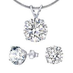 Silvego Strieborný set šperkov s čírym krištáľom JJJS5RC1 striebro 925/1000