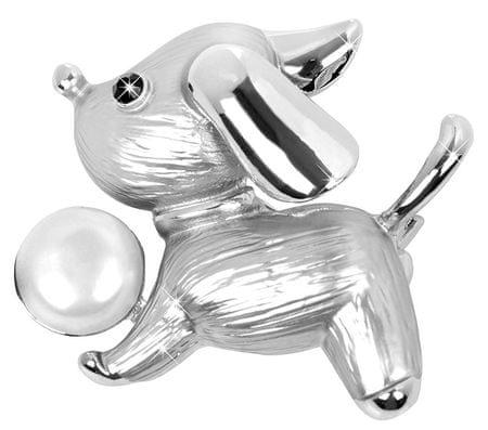 JwL Luxury Pearls Kutya formájú bross gyönggyel díszítve JL0376