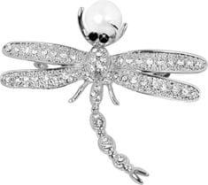 JwL Luxury Pearls Nádherná brož Vážka 2v1 s pravou perlou JL0383