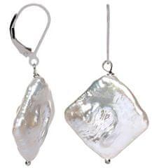 JwL Luxury Pearls Stříbrné náušnice s pravou perlou JL0391 stříbro 925/1000