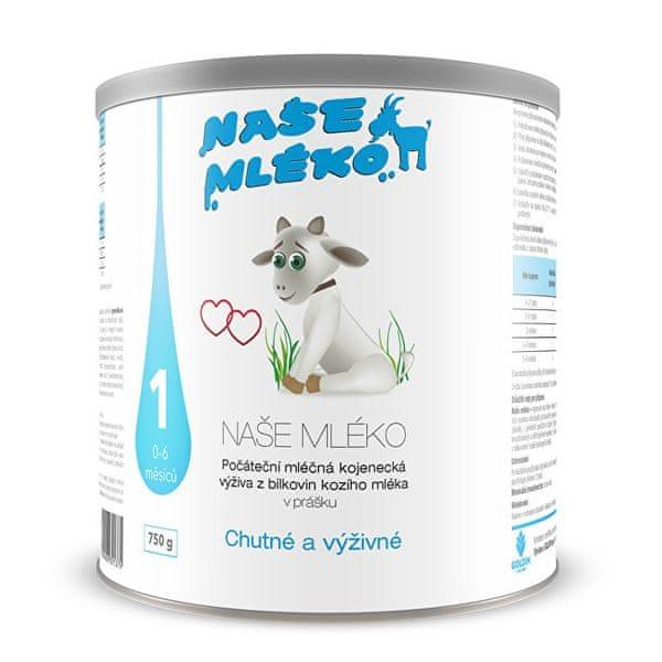 Naše mléko 1 (0-6 m) 750 g