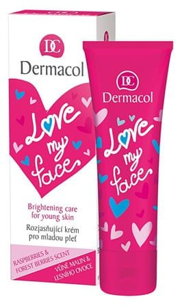 Dermacol Regenerační a rozjasňující krém pro mladou pleť s vůní malin a lesního ovoce Love My Face (Brighteni