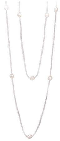 JwL Luxury Pearls Dlouhý náhrdelník z bílých pravých perel JL0427