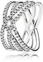 Pandora Oslnivý stříbrný prsten 196401CZ stříbro 925/1000
