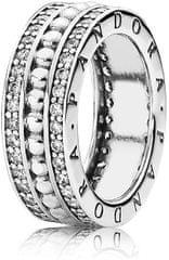 Pandora Stříbrný prsten s kamínky 190962CZ stříbro 925/1000