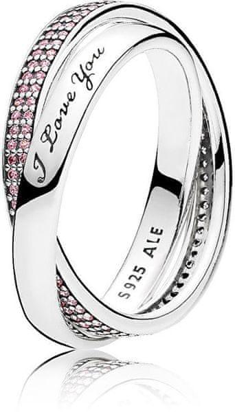 Pandora Stříbrný prsten pro milovanou ženu 196546PCZ (Obvod 52 mm) stříbro  925 1000 594e1b4168f