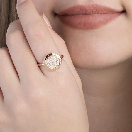 Pandora Bronzový prsten s třpytivými kamínky 180912CZ (Obvod 54 mm ... 182703a1c6e