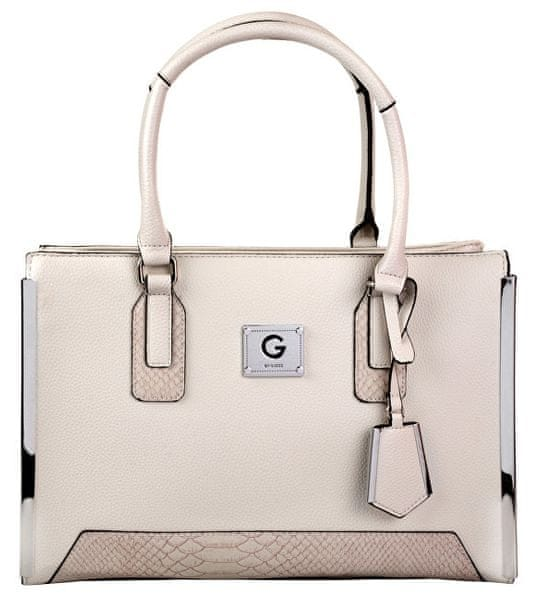 3a7514112 Guess Dámská kabelka G by GUESS Women`s Windfall Faux-Leather Satchel -  Stone