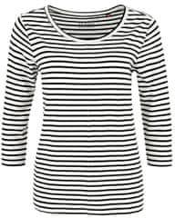 s.Oliver Dámske tričko 04.899.39.5020.02G5 Creme stripes