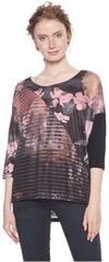 Desigual Dámske tričko TS Belgica Rosa Glamour 18WWTK99 3044