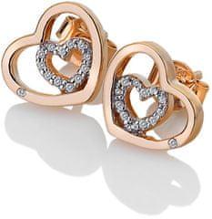 Hot Diamonds Stříbrné srdíčkové náušnice Adorable Encased DE549 stříbro 925/1000