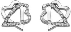 Hot Diamonds Stříbrné srdíčkové náušnice Adorable DE550 stříbro 925/1000