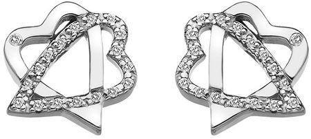 Hot Diamonds Strieborné srdiečkové náušnice Adorable DE550 striebro 925/1000