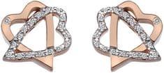 Hot Diamonds Stříbrné srdíčkové náušnice Adorable DE551 stříbro 925/1000