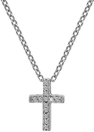Hot Diamonds Strieborný náhrdelník s krížikom Micro Bliss DP696 striebro 925/1000