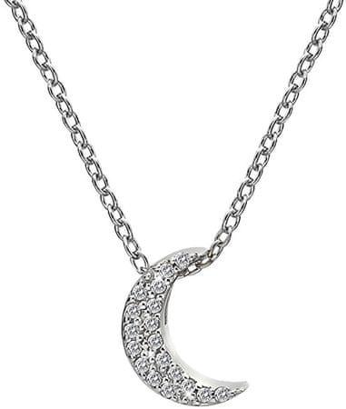 Hot Diamonds Stříbrný náhrdelník s půlměsícem Micro Bliss DP698 stříbro 925/1000
