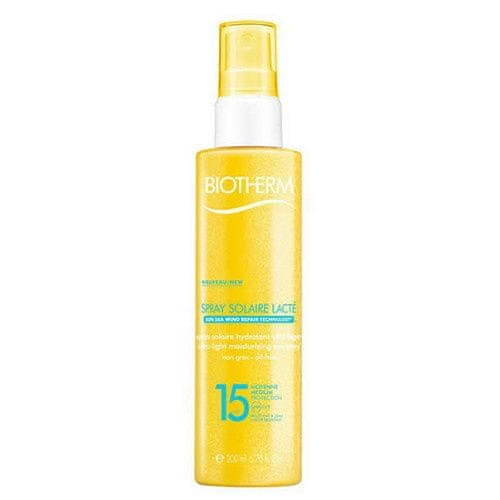 Biotherm Tělový sprej na opalování SPF 15 Spray Solaire Lacte (Ultra Light Moisturizing Sun Spray) 200 ml