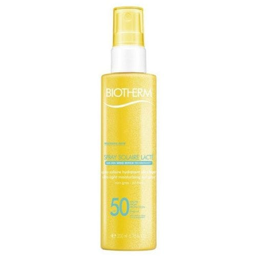 Biotherm Tělový sprej na opalování SPF 50 Spray Solaire Lacte (Ultra Light Moisturizing Sun Spray) 200 ml
