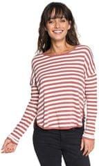 ROXY Dámske tričko Curious Direction White red Rose Big Simple Stripe ERJKT03464-MMG1
