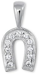 Brilio Přívěsek z bílého zlata podkova s krystaly 249 001 00107 07 - 0,85 g zlato bílé 585/1000