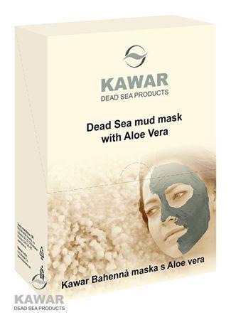 KAWAR Pleťová maska s aloe vera a minerály z Mrtvého moře 4 x 75 g sáčků v krabičce