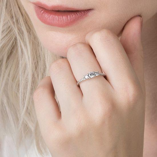 Pandora Třpytivý stříbrný prsten 196242CZ stříbro 925/1000