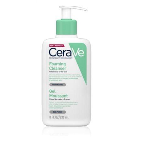 CeraVe Čistiaci penivý gél pre normálnu až mastnú pleť (Foaming Cleanser) (Objem 236 ml)