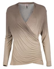 Deha Női póló nyakú L / S Tee B84571 Árnyékos dió