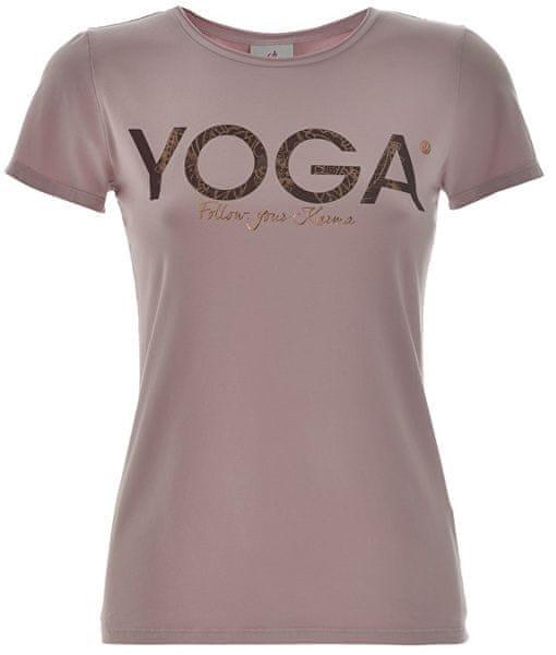 Deha Dámské triko T-Shirt B84670 Lilac (Velikost S)  cf3b2a5467