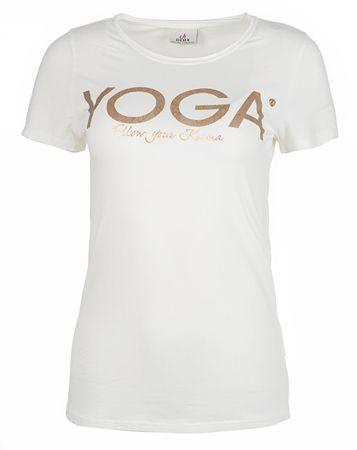 Deha Dámske tričko T-Shirt B84670 Snow (Veľkosť S)