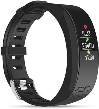 Deveroux P5 fitness náramek - černý
