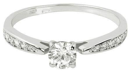 Brilio Prsten z bílého zlata se zirkonem 229 001 00767 07 (Obvod 54 mm) zlato bílé 585/1000