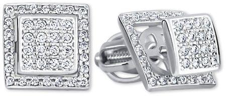 Brilio Štvorcové zlaté náušnice s čírymi kryštálmi 239 001 00861 07 ... 29e023a5a2c