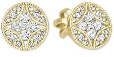 Brilio Designové náušnice s čirými krystaly 239 001 00874 - 2,00 g zlato žluté 585/1000