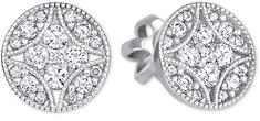 Brilio Designové náušnice s čirými krystaly 239 001 00874 07 - 1,95 g zlato bílé 585/1000