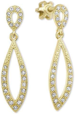 Brilio Dámské zlaté náušnice s čirými krystaly 239 001 00876 - 2,40 g zlato žluté 585/1000