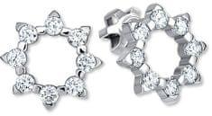 Brilio Sluníčkové náušnice s krystaly 239 001 00887 07 - 1,85 g zlato bílé 585/1000