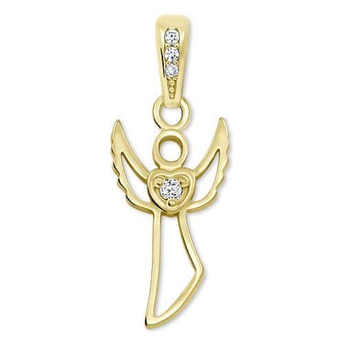 Brilio Půvabný zlatý přívěsek Anděl 249 001 00569 - 0,75 g zlato žluté 585/1000