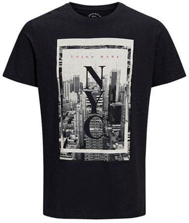 Jack&Jones Pánske tričko Jorcitynew Tee Ss Crew Neck Black (Veľkosť M)