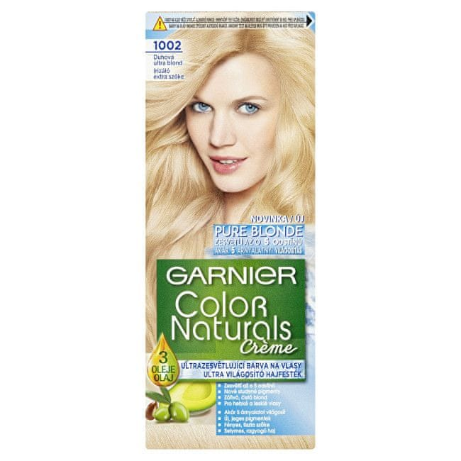 Garnier Zesvětlující barva na vlasy Color Naturals Creme (Odstín 1001 Popelavá ultra blond)