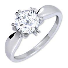Brilio Silver Výrazný zásnubní prsten 426 001 00502 04 - 2,13 g stříbro 925/1000