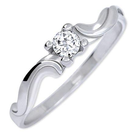 Brilio Silver Gentle sp obrączka 426 001 00495 04 - 1,03 g (obwód 50 mm) srebro 925/1000