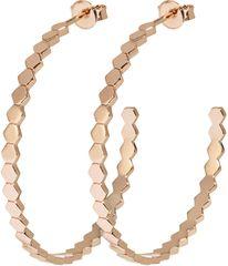 Bronzové kruhové náušnice složené z hexagonů CLJ50008