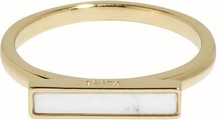 Ezüst aranyozott gyűrű CLJ41002 márvány platformon (áramkör 52 mm) ezüst 925/1000