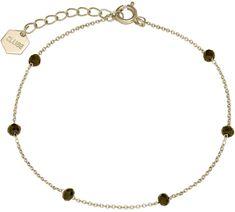 Aranyozott karkötő gyöngyökkel CLJ11013