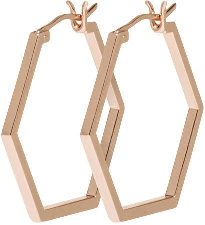 Hexagon Bronze Kolczyki CLJ50004