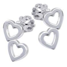 Brilio Silver Srdíčkové náušnice ze stříbra 431 001 01502 04 - 1,10 g stříbro 925/1000