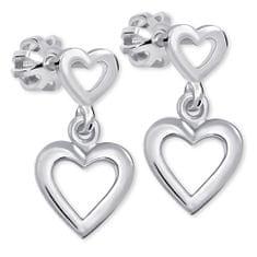 Brilio Silver Romantické náušnice ze stříbra 431 001 02610 04 - 1,53 g stříbro 925/1000