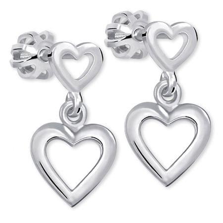 Brilio Silver Romantyczny Kolczyki wykonane ze srebra 431 001 02610 04 - 1,53 g srebro 925/1000